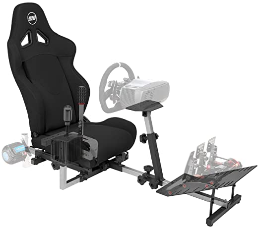 Amazon.com: OpenWheeler GEN3 Racing Wheel Stand Cockpit Black on Black   Fits All Logitech G923   G29   G920   Thrustmaster   Fanatec Wheels   Compatible with Xbox One, PS4, PC Platforms: Video Games