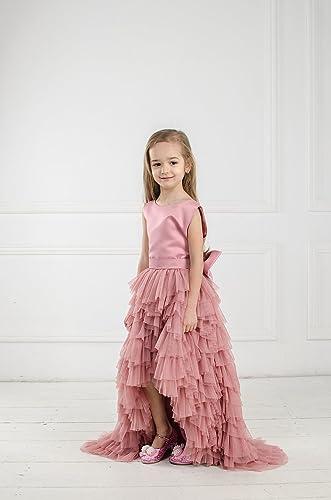 a2970b2dfc8 Amazon.com  Flower girl dusty rose tutu tulle dress