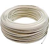 Cablematic - Bobina Cable Telefónico Flexible 4-Hilos Marfil (100m)