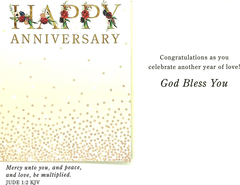 J0378 12 Boxed Cards Anniversary KJV DaySpring Floral