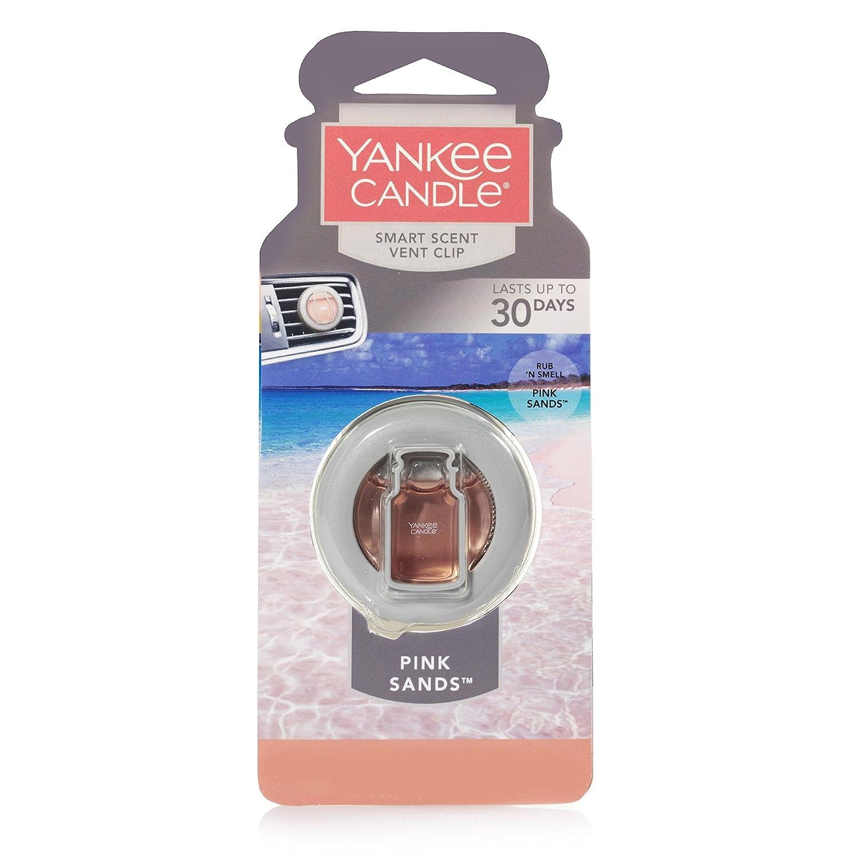 Yankee Candle CAR VENT CLIP HW PINK SANDS, Smart Scent