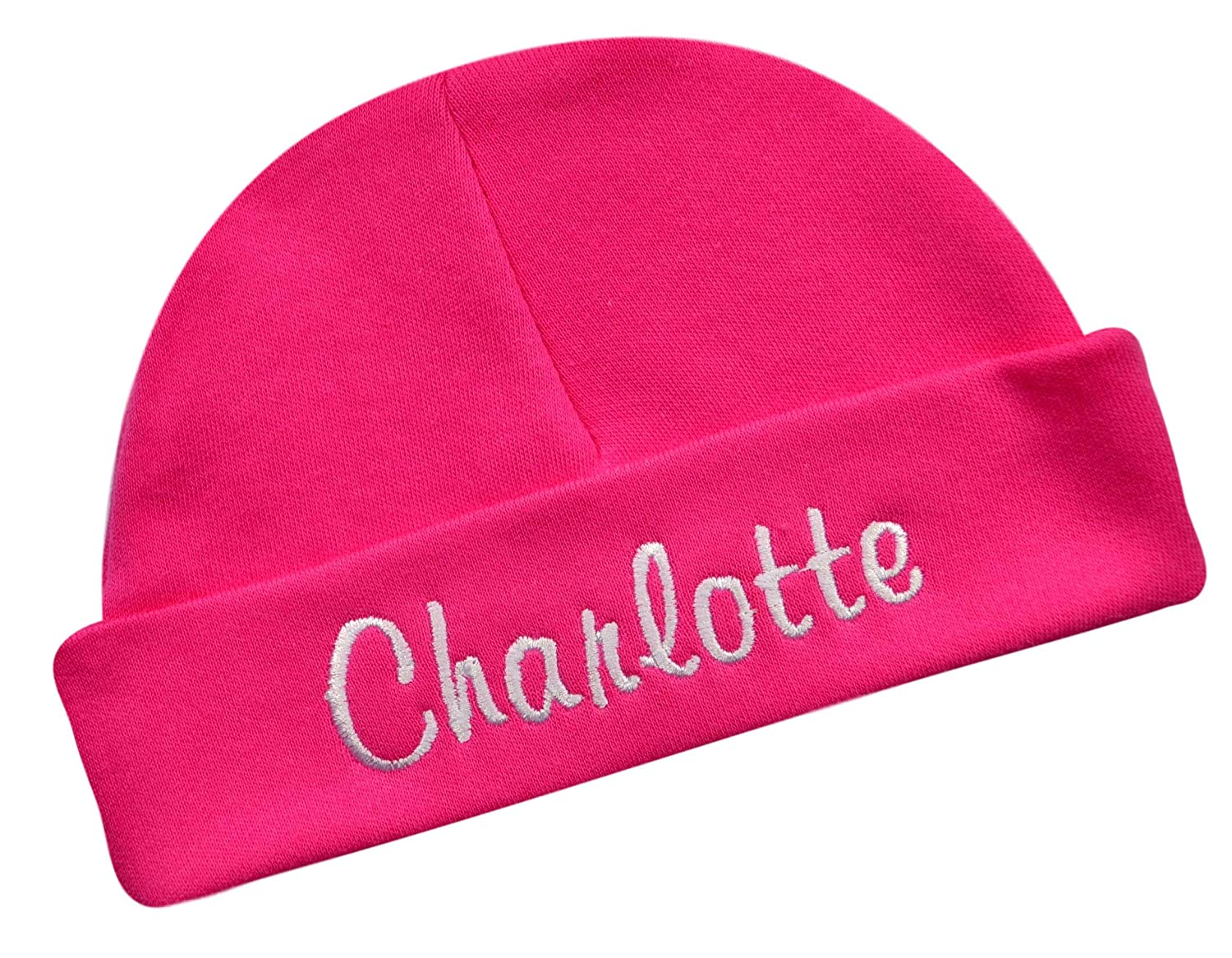 Amazon.com  Embroidered Baby Hat with Custom Personalization Unisex - Your  Custom Text! (Hot Pink Hat)  Clothing 490b58d16ef