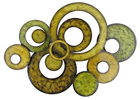 Pacific Home Metal Wall Art Circle Design In Green: Amazon.co.uk ...