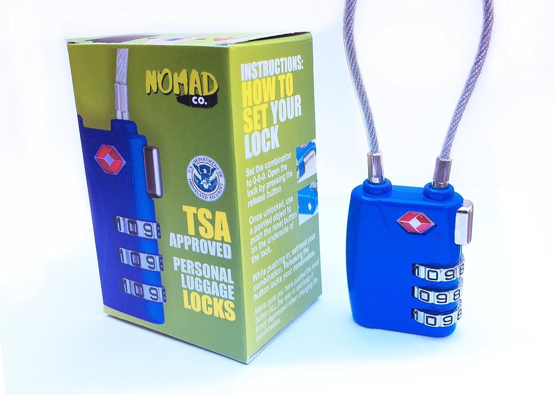 Amazon com: TSA Blue Luggage Lock - Travel Locks for
