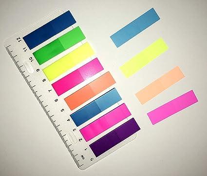200 Haftmarker Index Marker Haftnotizen Lesezeichen Page Marker 8 Farben Lineal
