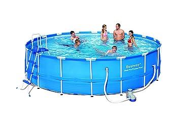 Bestway Splash Junior - Piscina con marco de acero, con bomba de filtro NL y accesorios: Amazon.es: Jardín