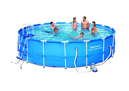 BESTWAY 8320050 PISCINA REDONDA C/HIDR EST METØ366x122cm: Amazon.es: Deportes y aire libre
