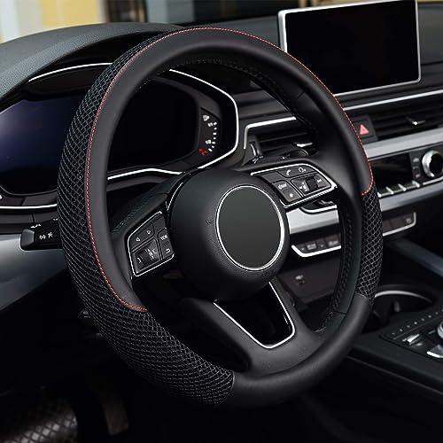 Universal Breathable <span>Leather Steering Wheel Wrap</span> [Kafeek] Picture