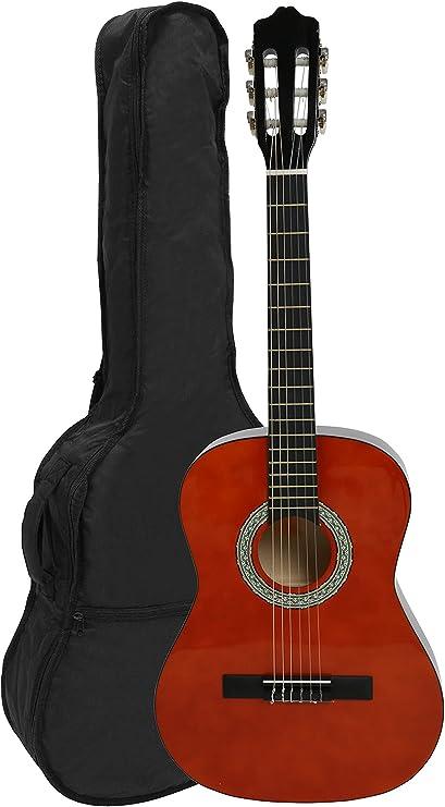 NAVARRA NV13 - Guitarra clásica 3/4 honey con bordes negro incl ...