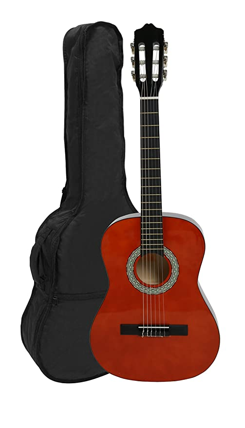 NAVARRA NV13 - Guitarra clásica 3/4 honey con bordes negro incl. funda con