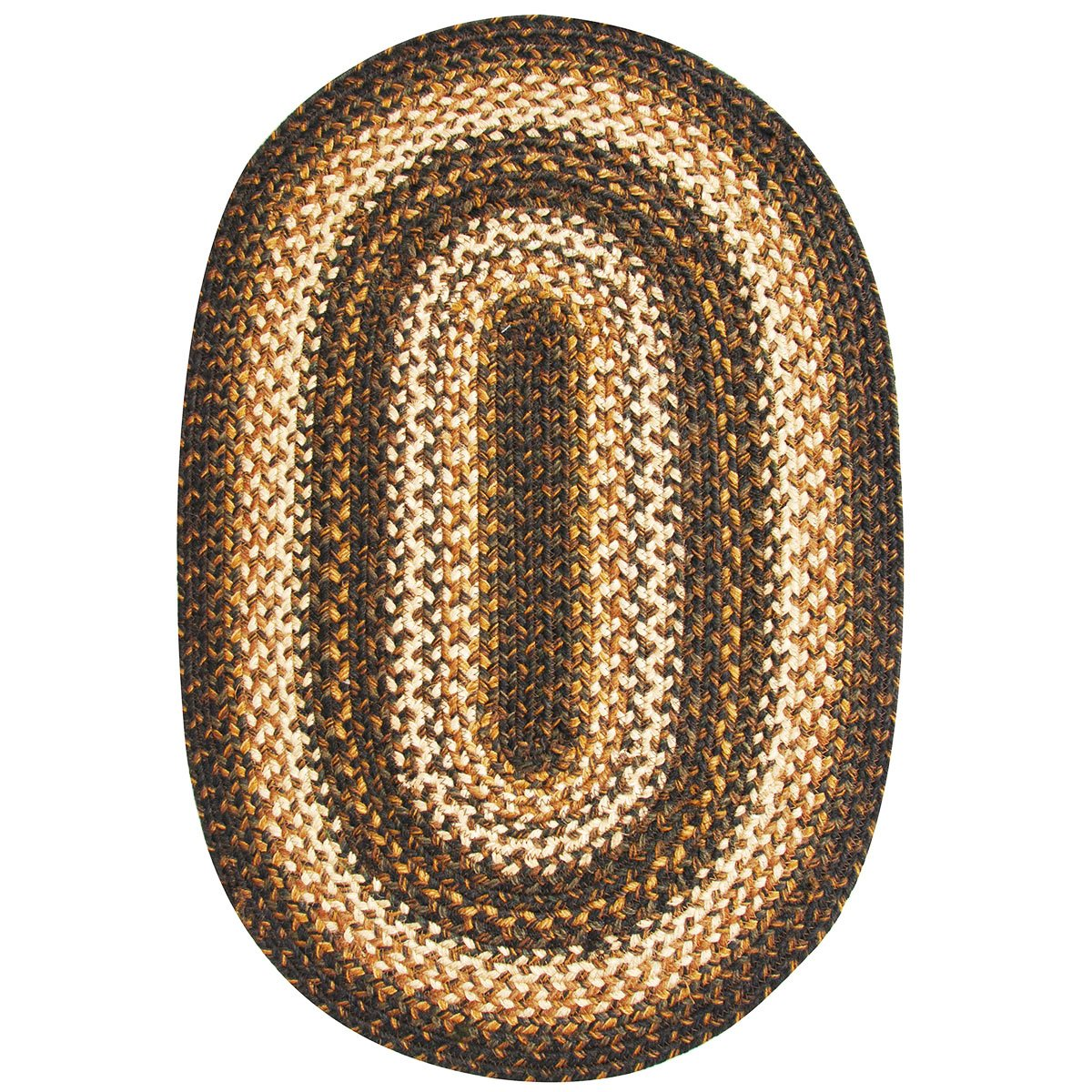 Homespice Oval Jute Braided Rugs, 4-Feet by 6-Feet, Russet Homespice Decor -- DROPSHIP 801063503046