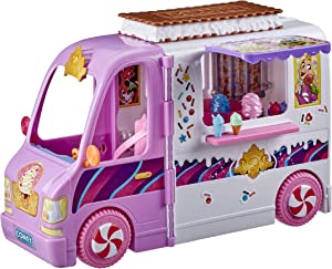 Disney Princess Comfy Squad Sweet Treats Truck, Playset with 16 Accessories, Pretend Ice Cream Shop, Toy for Girls 5 Years Old and Up