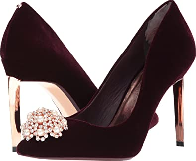 082a1194bd Ted Baker Women's Peetch Burgundy Textile Pump: Amazon.co.uk: Shoes ...