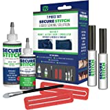 Secure Stitch Liquid Sewing Solution Kit! Fabric Glue That Quickly Mends, Alters, Hems & Embellishes Without a Needle and Thr