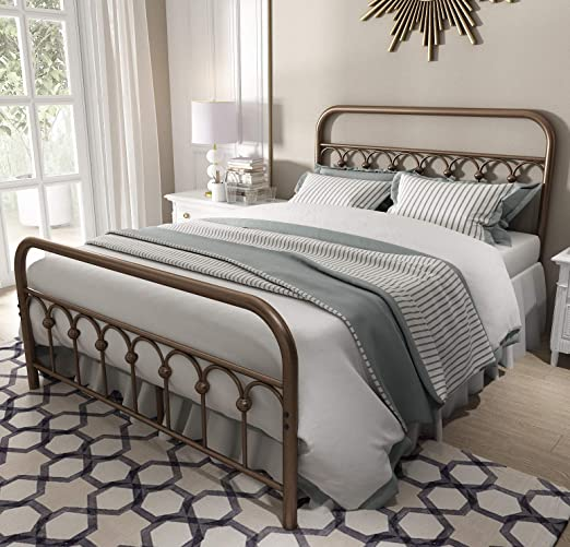 Amazon Com Vintage Sturdy Full Size Metal Bed Frame With