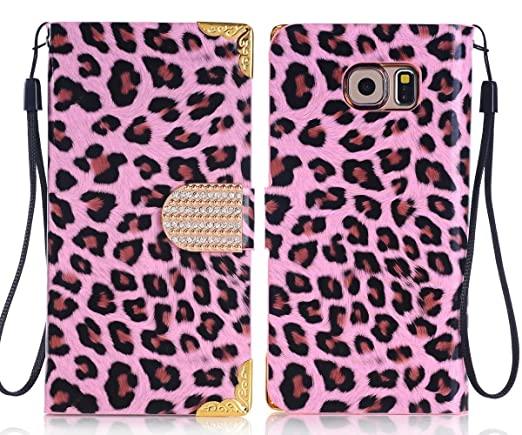 samsung galaxy s6 phone cases for girls. samsung galaxy s6 case cute designs for girls, umiko(tm) pink leopard print phone cases girls r