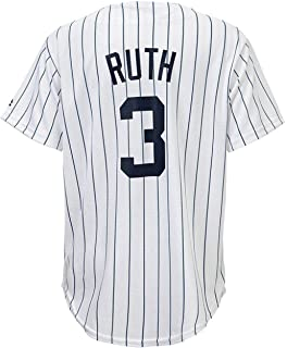 2a8b4912b Outerstuff Babe Ruth New York Yankees White Youth Cool Base Home Replica  Jersey
