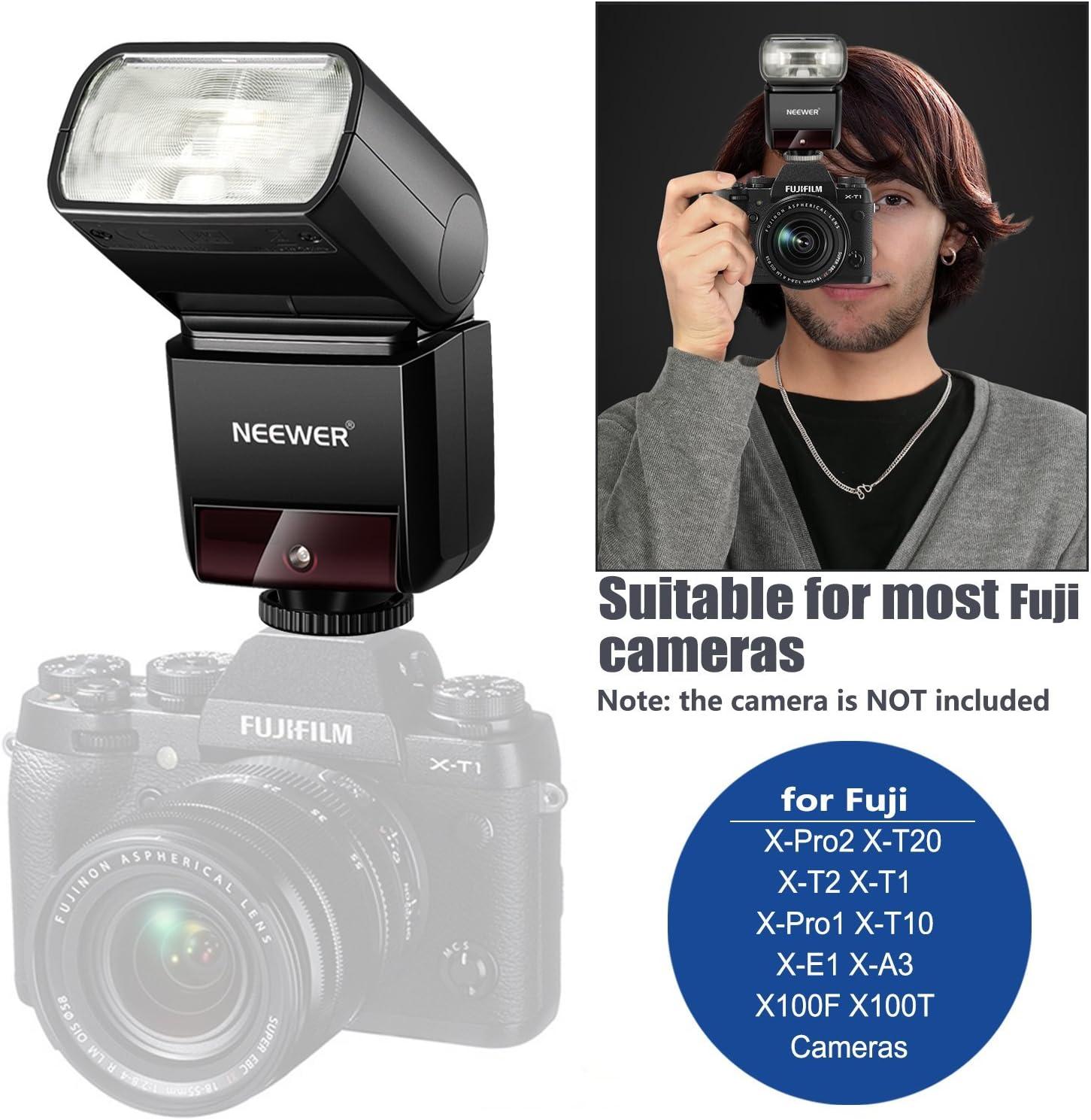 X-T20 X-T2 X-E1 X-T1 Neewer 2.4G Wireless TTL Speedlite Flash HSS 1//8000s GN36 with Hard Diffuser for Fujifilm X-Pro2 X-Pro1 X-A3 X-T10 NW400F X100F X100T Cameras