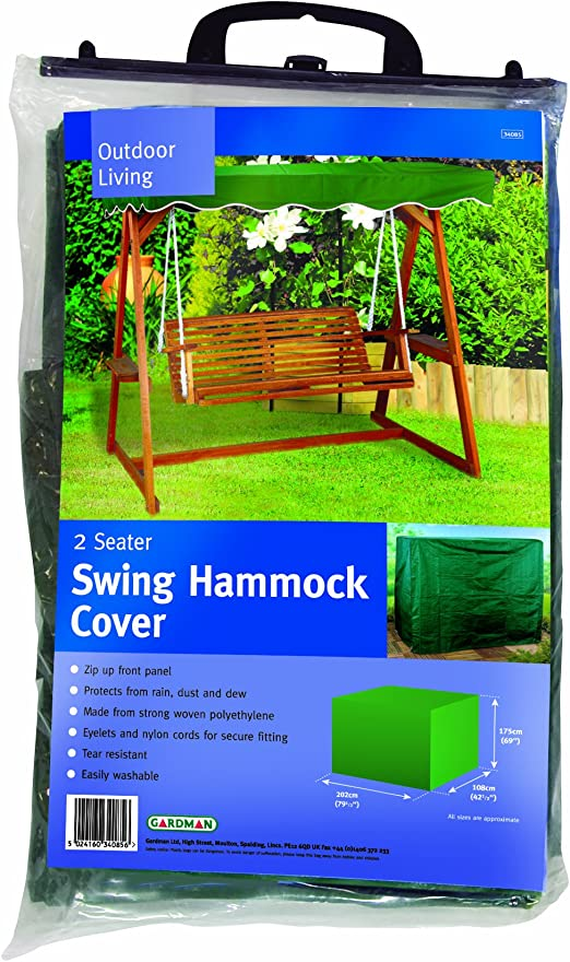 Gardman Protective Swing Hammock Cover Swinging Bench Cover 2 Seater Amazon Co Uk Garden Outdoors