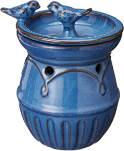 Priya Home Furniture PHF-493867-RI Home Indoor Decorative Scented Blue Birds Full Size Ceramic Wax Warmer