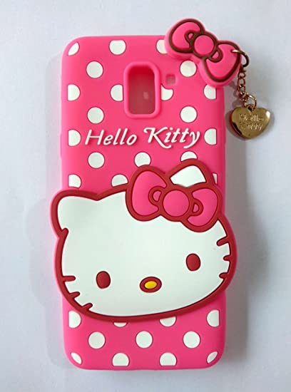 new concept 05785 a0895 MOBICLONICS® Hello Kitty Back Case Cover for Samsung Galaxy J6 - (Pink)