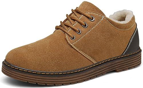 DENGBOSN Botas Nieve Hombre Mujer Botines Invierno Calentar Fur Forro Aire Libre Boots Planos Zapatos: Amazon.es: Zapatos y complementos