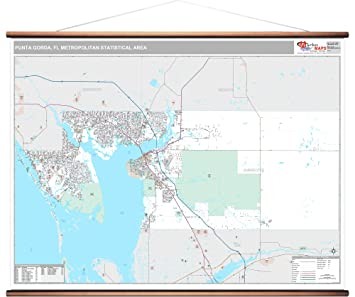 Map Of Punta Gorda Florida.Amazon Com Marketmaps Punta Gorda Fl Metro Area Wall Map 2018