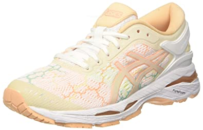 ASICS Women s Gel-Kayano 24 Lite-Show White Apricot Ice Running Shoes- 6205815f75
