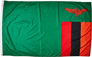 product image for Annin Flagmakers Model 199487 Zambia Flag Nylon SolarGuard NYL-Glo, 5x8 ft, 100% Made in USA to Official United Nations Design Specifications