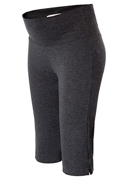 Maacie Pantalones Mujeres Embarazadas Maternidad Cómodo Pantalones Capri S MC1015-2