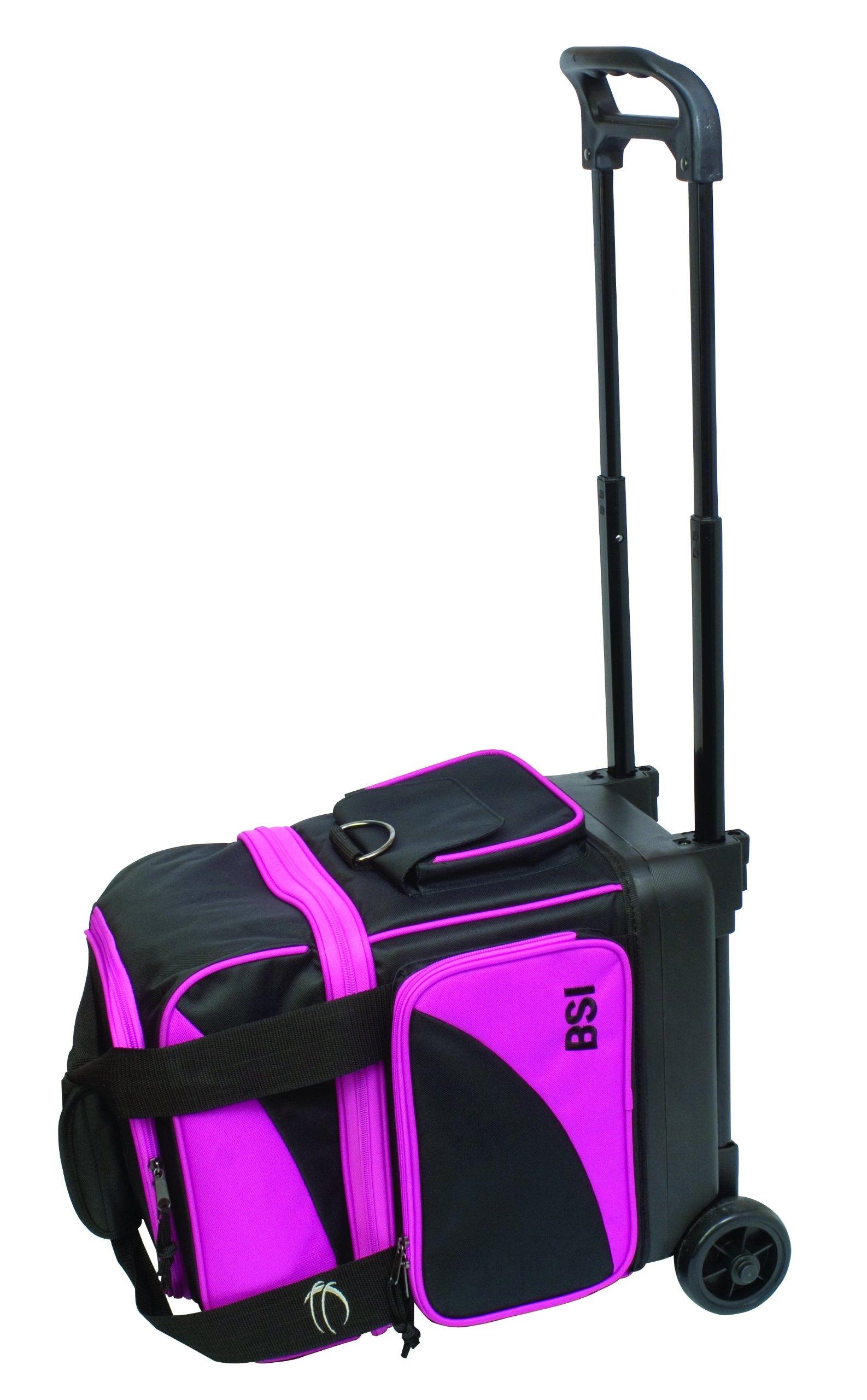 BSI Single Ball Roller Bag, Black/Pink