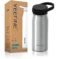 VeeFine Botella de Agua Acero Inoxidable 592ml con Tapa Boca Ancha Cierre 100% hermético Termo Aislado Al Vacío Doble…