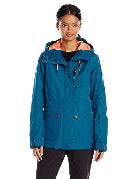 c224edcd596 Roxy Womens Andie Tailored Long Snow Jacket Snowboard Jacket: Amazon ...
