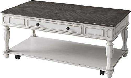 Martin Svensson Home Grove Hill, Coffee Table, Antique White with Grey Tops
