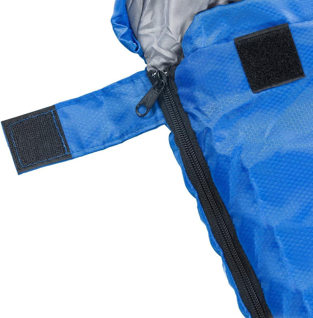 c/ómodo con bolsa de compresi/ón camping Saco de dormir ligero port/átil senderismo Individual ideal para viajes de 4 estaciones actividades al aire libre. Abco Tech impermeable