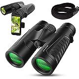 WildVis 12x42 Binoculars for Adults Compact Binocular Prism BAK4 FMC Lens Waterproof HD Binoculars for Bird Watching…