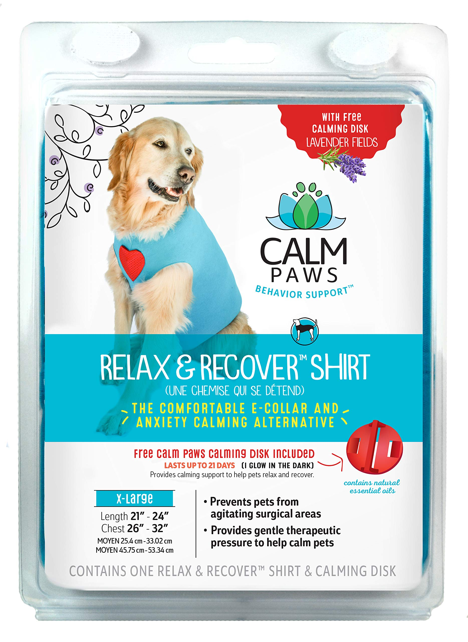Calm Paws Dog Relax & Recovery Shirt, Large/X-Large by Calm Paws