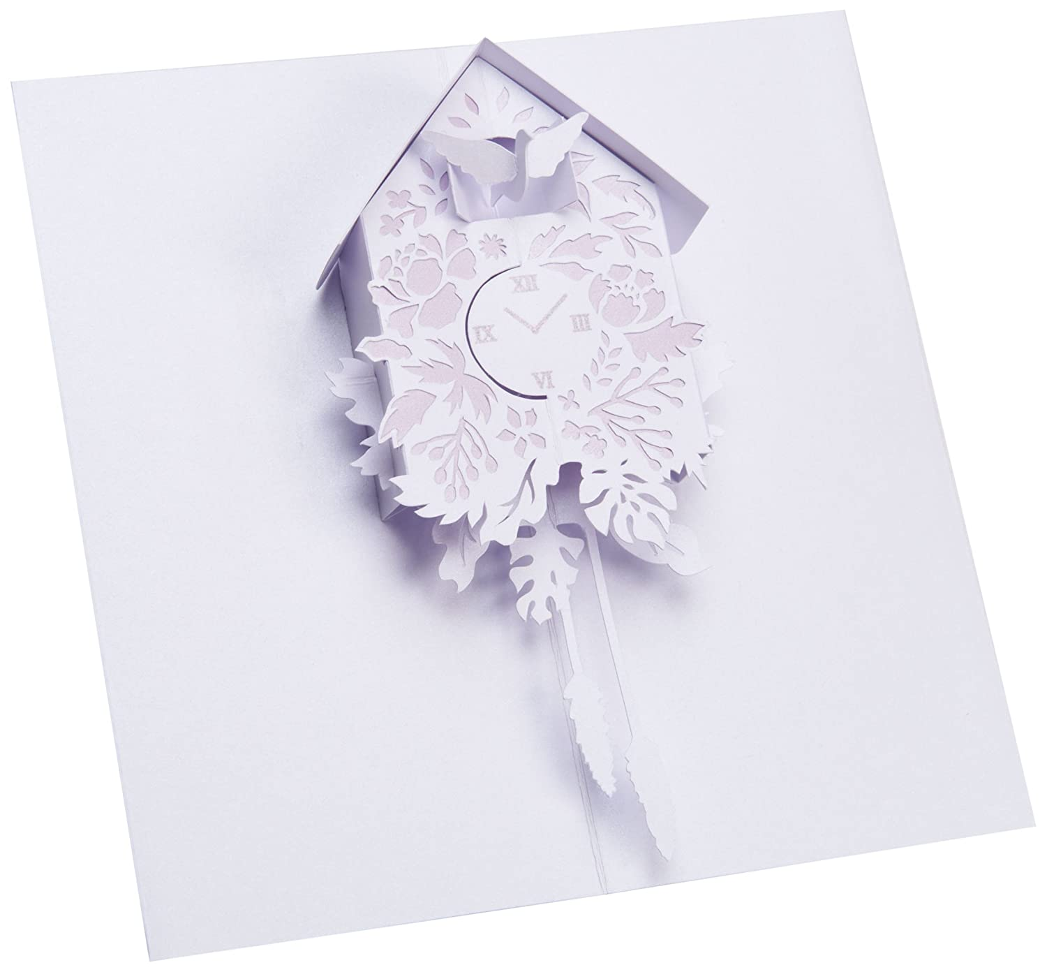 UWP Luxe AL003 Cuckoo Clock Pop Up Greeting Card