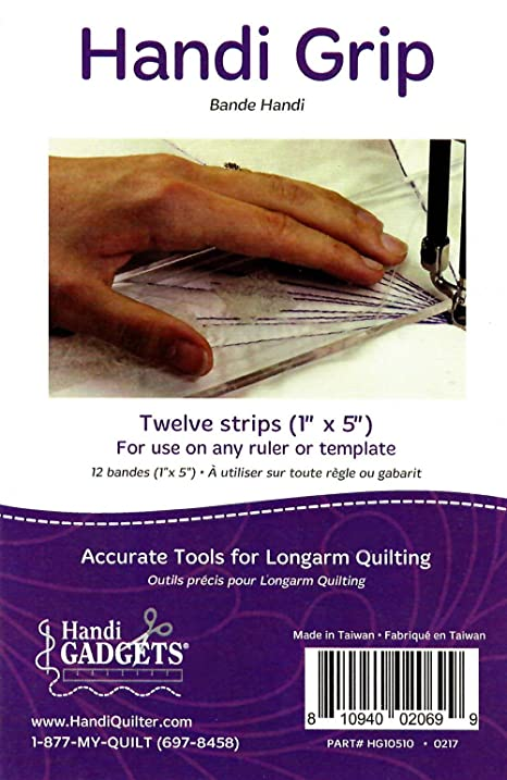 Amazon.com: Handi Grip Adhesive Strips: 12 Clear 1-Inch x 5-Inch ... : handi gadgets quilting - Adamdwight.com