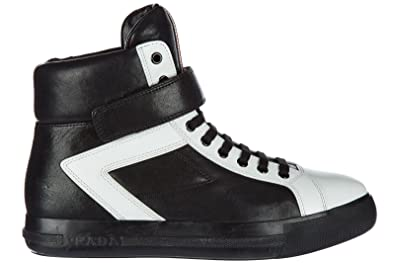 d548709962237c Prada Damenschuhe Damen Leder Schuhe High Sneakers Schwarz EU 40  3T57653O61F0967