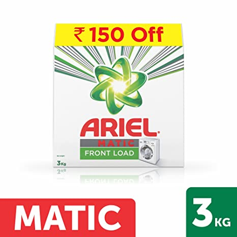 Ariel Matic Front Load Detergent Washing Powder - 3 kg (Rupees 150 Off)