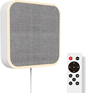 KEiiD Bluetooth 5.0 Desktop/Wall mountable Speaker, Home Audio Boombox with Night Light Anion Air Purification Built-in HiFi Speakers, Mp3 Headphone Jack AUX Input Output (White)