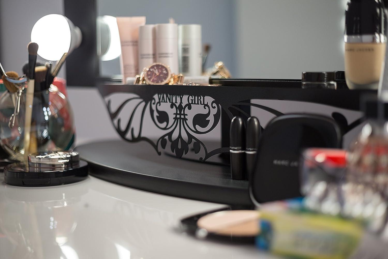 Amazoncom Starlet Lighted Vanity Mirror Gloss Black Home Kitchen