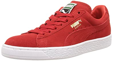 huge discount 793e2 11945 PUMA Suede Classic Sneaker,High Risk RedWhite,4 M US Mens