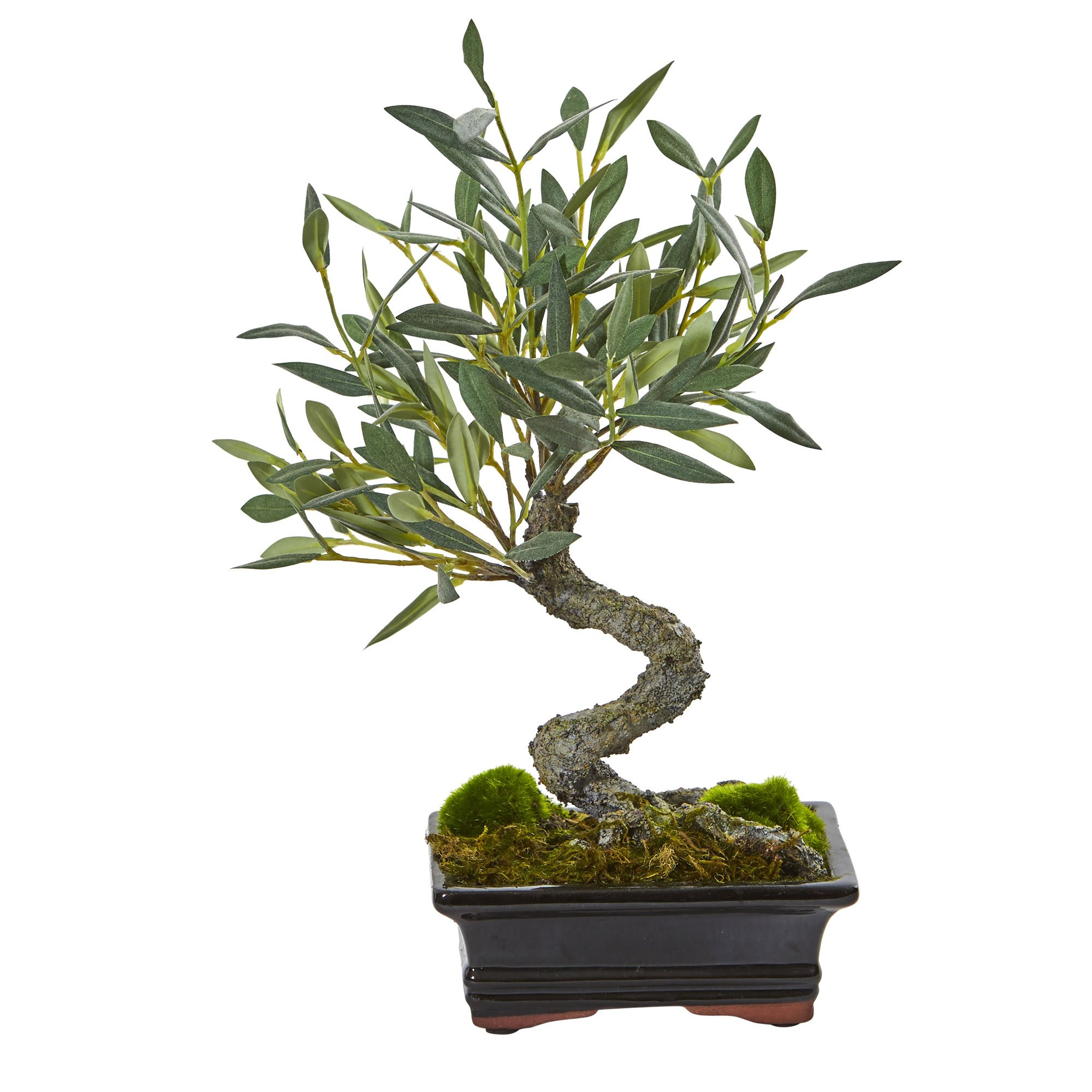 Nearly Natural Mini Olive Artificial Bonsai Tree