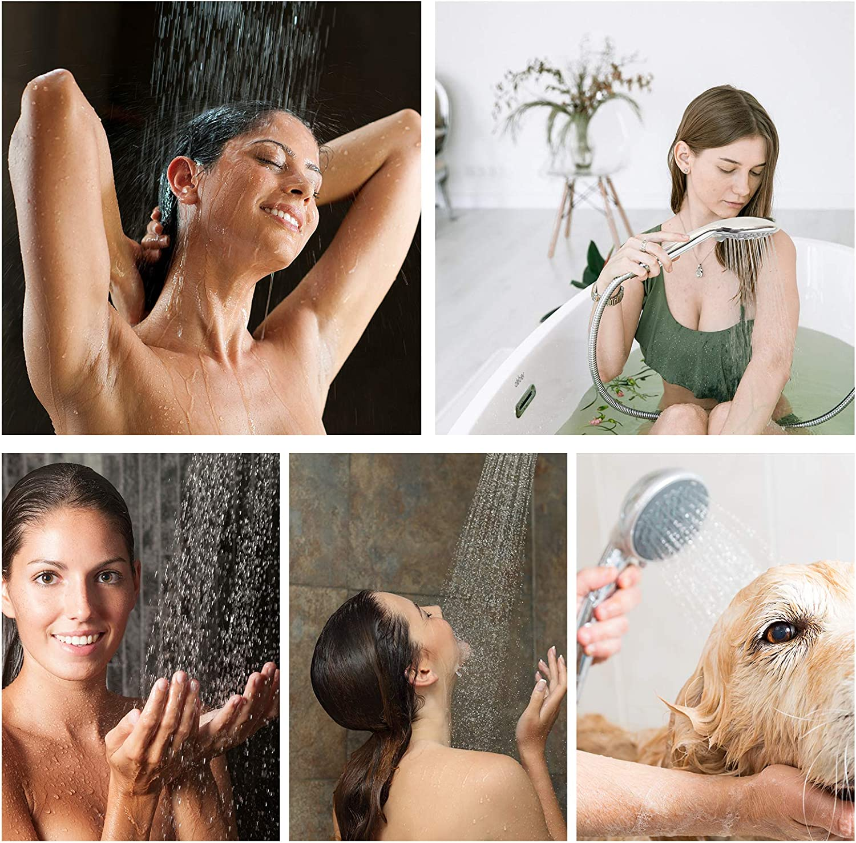 5 Shower Experiences Handheld Shower Heads Replacement for Bathroom Elegant Upgraded Adjustable Fit Your Shower Hose Shower Head