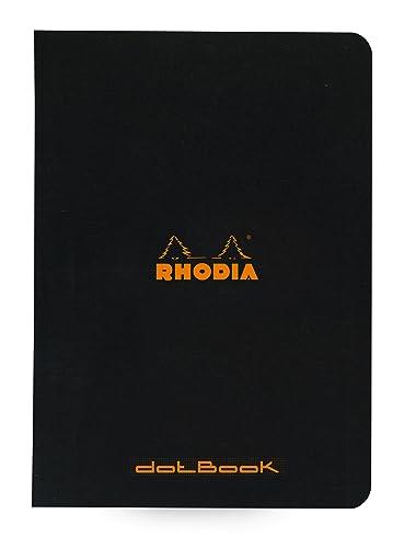 Rhodia 119186C A5 Staple Bound Notebook - Black