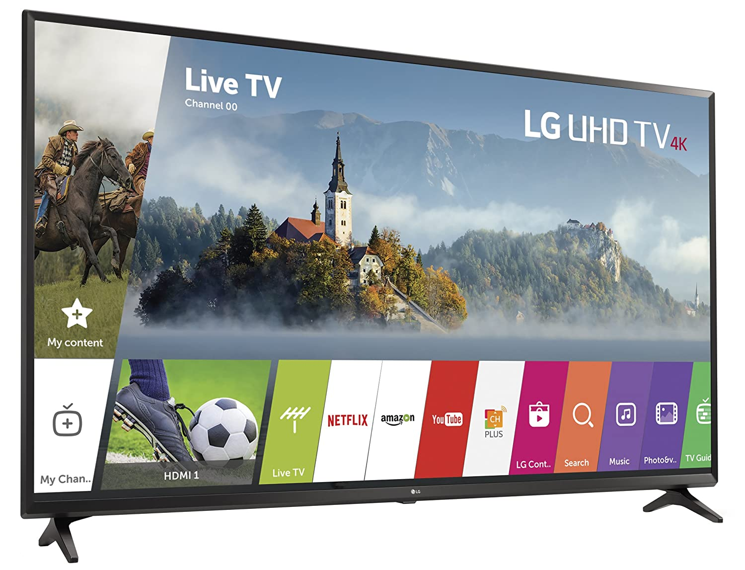 278b32392b2 Amazon.com  LG Electronics 43UJ6300 43-Inch 4K Ultra HD Smart LED TV (2017  Model)  Electronics