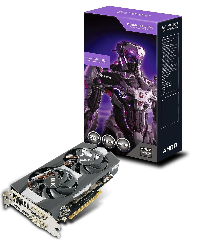 Sapphire Radeon R9 270X 2GB GDDR5 DVI-I/DVI-D/HDMI/DP Dual-X with Boost and  OC Version PCI-Express Graphics Card 11217-01-20G