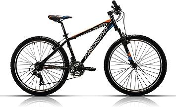 Megamo Fun Bicicleta de Montaña, Hombre, Negro, 13.5